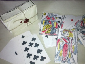 Cards in their wrapper