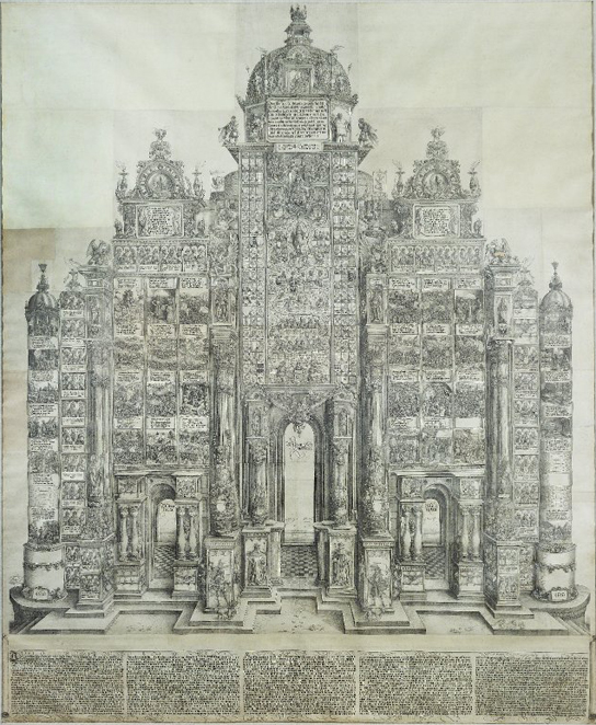 Albrecht Dürer, The Triumphal Arch, woodcut print on paper. (E,5.1)