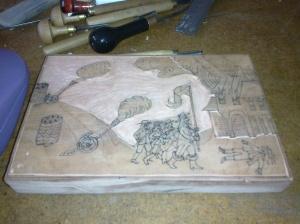 Stage 3: Cut in progress.
