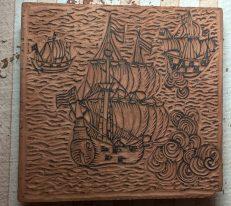 ships woodcut